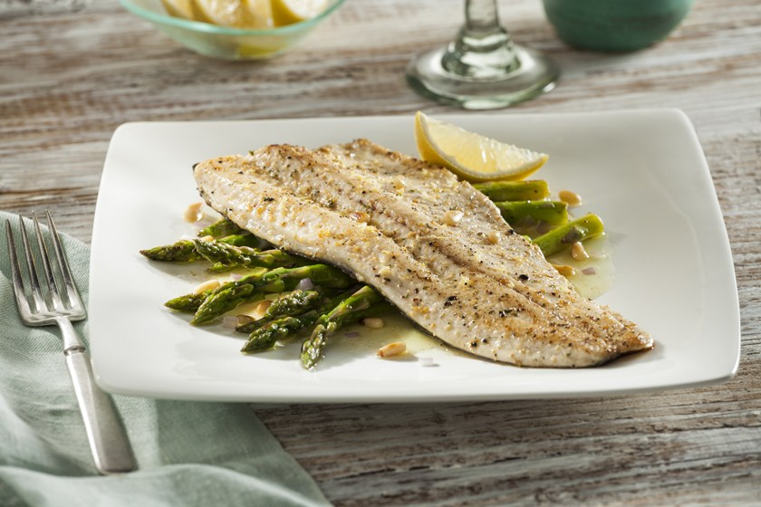 Pan-Seared Rainbow Trout with Roasted Asparagus and Citrus ...